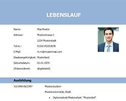 Lebenslauf_Vorlage_Muster_Student_Absolvent_blau