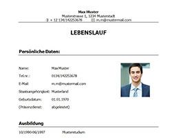 Lebenslauf_Vorlage_Muster_Student_Absolvent_klassisch