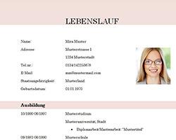 Lebenslauf_Vorlage_Muster_Student_Absolvent_modern