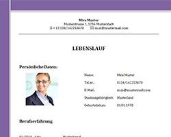 Lebenslauf_Vorlage_Muster_violett
