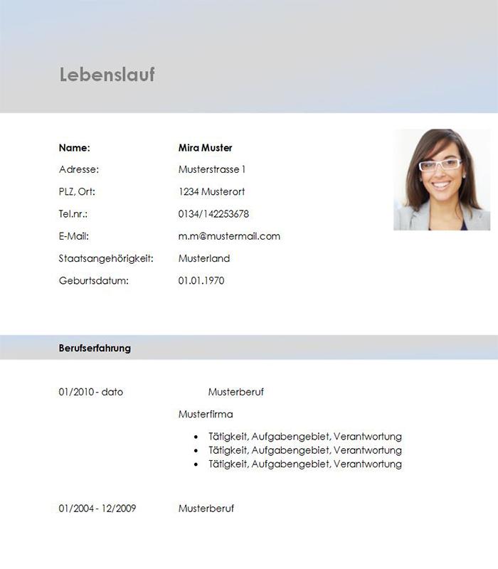 Lebenslauf-Vorlage Account Manager