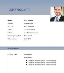 Muster-Lebenslauf-Vorlage-Automobilkaufmann