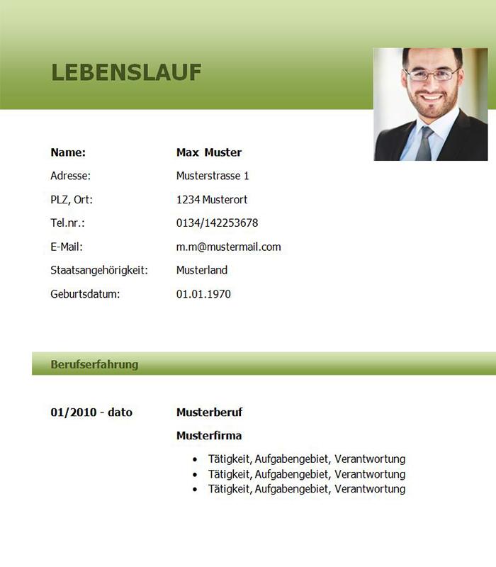 Lebenslauf Vorlage Bankkaufmann Bzw Bankkauffrau