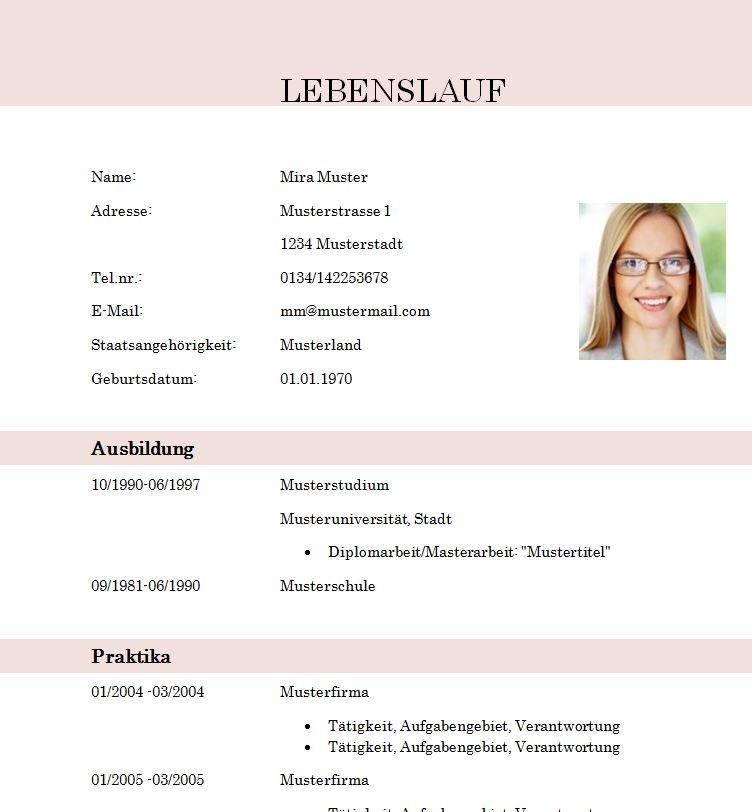 lebenslaufvorlage_student_absolvent_modern - Lebenslauf