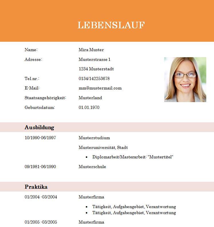 lebenslaufvorlage_student_absolvent_orange